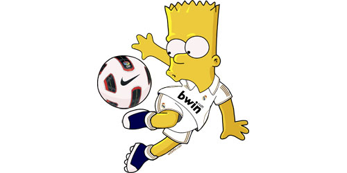 Homero con la camiseta del real madrid - Imagui