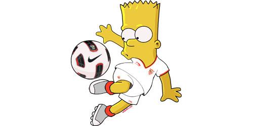 Bart Simpson Se Pone La Camiseta Del Sevilla Con La Equipaci  N 2012