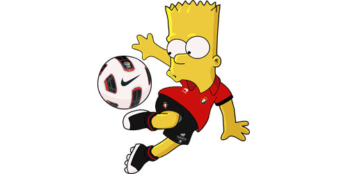 Pin Imagen Bart Simpson Drogado Wallpapers Real Madrid Kamistad on ...